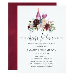 Burgundy and Navy Bridal Shower Wine Tasting Invitation starting at 2.66