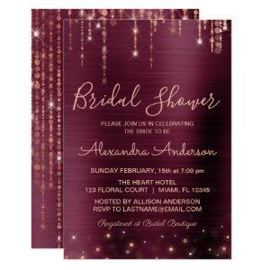 Burgundy and Rose Gold Bridal Shower Invitation starting at 2.06