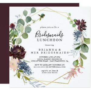 Burgundy Gold Bridesmaids Luncheon Shower Invitation starting at 2.41