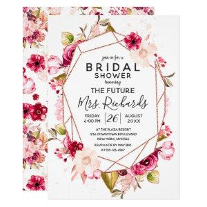 Burgundy & Pink Terrarium Bridal Shower Invitation starting at 2.55