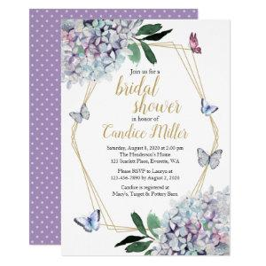 butterfly bridal shower invitation purple lavender starting at 2.40