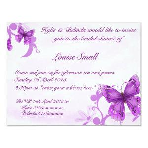 Butterfly Bridal Shower Invitations starting at 2.21