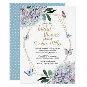 butterfly bridal shower invites blue purple pink starting at 2.40