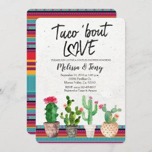 Cactus Couples Shower Invitation Taco Bout Love starting at 2.75
