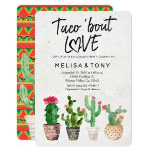 Cactus engagement party Invitation Taco Bout Love starting at 2.75