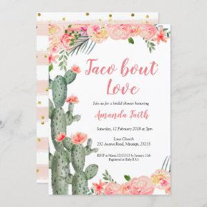 Cactus Floral Taco bout Love Bridal Shower Invitation starting at 2.90
