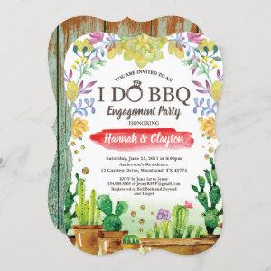 Cactus I do BBQ party  - rustic wood starting at 2.50