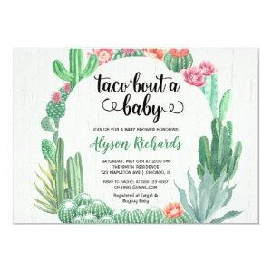 Cactus succulents, Taco bout a baby shower girl Invitation starting at 2.66