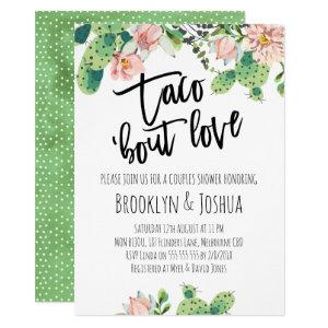 Cactus Taco 'bout Love Couples Shower Invitation starting at 2.10