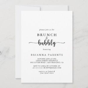 Calligraphy Brunch and Bubbly Bridal Shower Invitation starting at 2.51