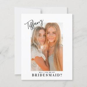 Calligraphy Name Will You Be My Bridesmaid | Photo starting at 2.30