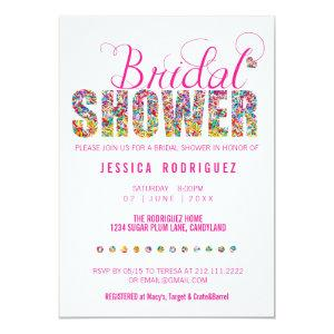 Candy Theme BRIDAL Shower Party Invitation starting at 2.71
