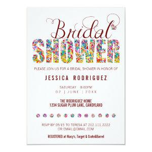 Candy Theme CUSTOM COLOR BRIDAL Shower Party Invitation starting at 2.71