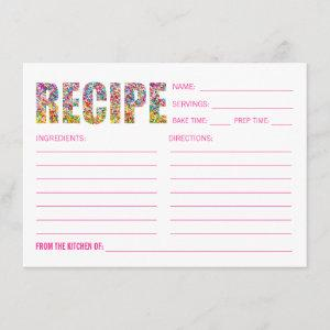 Candy Theme RECIPE CARD Post Card starting at 2.05