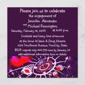Casino Theme Engagement Party Invitation starting at 2.35
