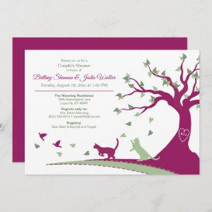 Cats Chasing Birds Couple's Shower Invitation starting at 2.51