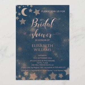 Celestial romantic moon and stars calligraphy invitation starting at 2.40