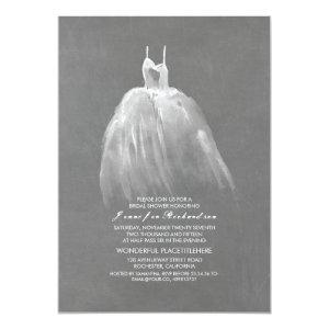 Chalkboard Bridal Shower Elegant Vintage Gown Invitation starting at 2.35