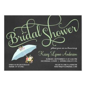 Chalkboard Bridal Shower Umbrella Invitations starting at 2.56
