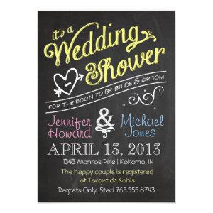 Chalkboard Couples Wedding Shower Invitation starting at 2.51