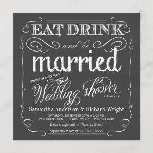 Chalkboard Couples Wedding Shower Invitations starting at 2.46