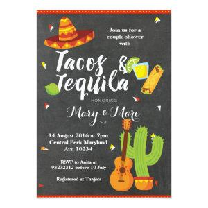 Chalkboard Fiesta Tacos and Tequila Invitation starting at 2.66