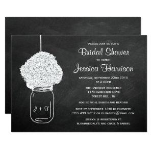 Chalkboard Hydrangea Mason Jar Bridal Shower Invitation starting at 2.51