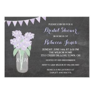 Chalkboard Hydrangea Mason Jar BridalShower Invite starting at 2.82