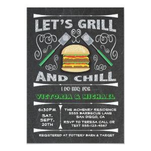 Chalkboard I Do barbecue BBQ engagement party Invitation starting at 2.56