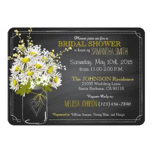 Chalkboard, Mason Jar and Daisies Bridal Shower Invitation starting at 3.02