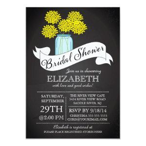 Chalkboard Mason Jar Bridal Shower Invitation starting at 2.51