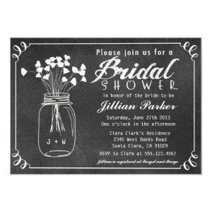 Chalkboard Mason Jar Bridal Shower Invitation starting at 2.56