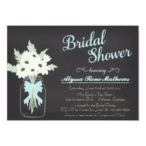 Chalkboard Mason Jar Bridal Shower Invitation starting at 2.21