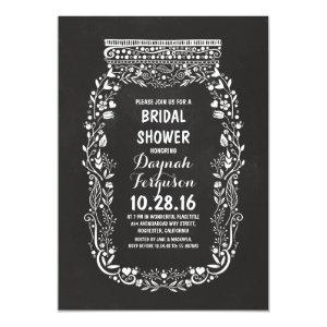 Chalkboard mason jar rustic bridal shower invitation starting at 2.66