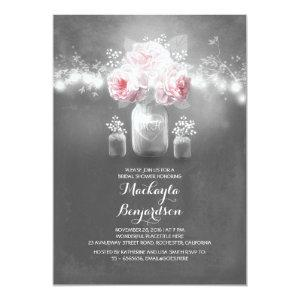 chalkboard mason jar rustic lights bridal shower invitation starting at 2.56