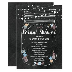 Chalkboard Mason Jar String Lights Bridal Shower Invitation starting at 2.51