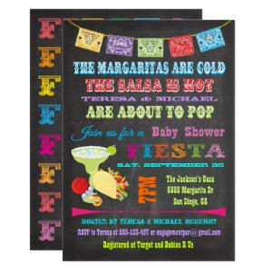 Chalkboard Mexican Fiesta Couples Baby Shower Invitation starting at 2.40