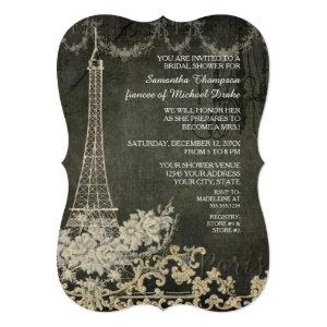 Chalkboard Vintage Paris Parisian Bridal Shower Invitation starting at 2.91