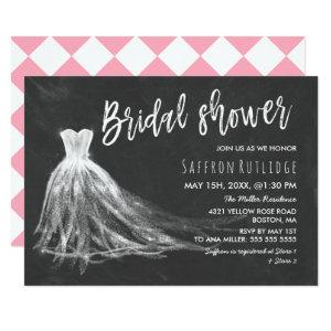 Chalkboard Wedding Dress Bridal Shower Invitation starting at 2.51