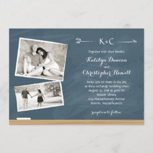 Chalkboard with Photos | Wedding Invitation starting at 2.66