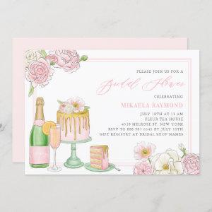 Champagne and Drip Cake Floral Bridal Shower Invitation starting at 2.40