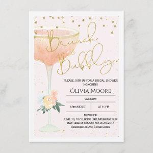 Champagne Brunch Bubbly Bridal Shower Invitation starting at 2.10