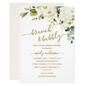 Champagne Floral Brunch And Bubbly Bridal Shower Invitation starting at 2.15