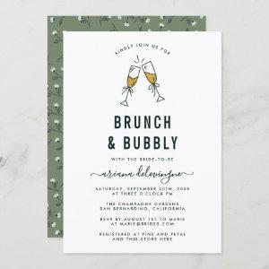 Champagne Flutes Brunch and Bubbly Bridal Shower Invitation starting at 2.45
