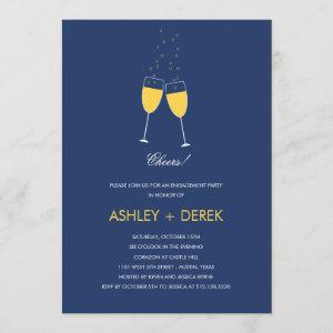 Champagne Toast Engagement Party Invitation starting at 2.51