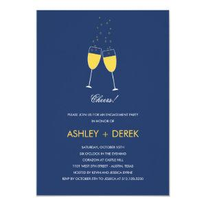 Champagne Toast Engagement Party Invitation starting at 2.61