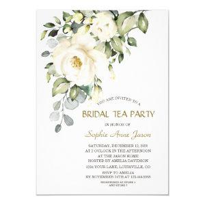 Charming White Cream Flowers Bridal Tea Party Invitation starting at 2.55