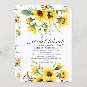 Cheerful Yellow Sunflower Bridal Shower Brunch Invitation starting at 2.40