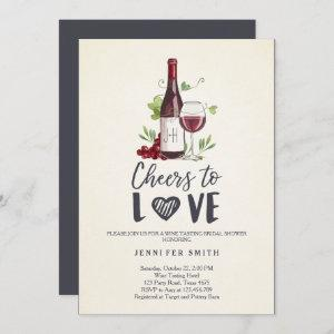 Cheers to Love Bridal shower invite Wine Tasting starting at 2.66