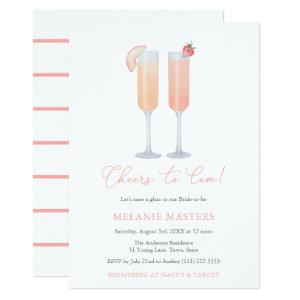 Cheers To Love, Raise a Glass Drinks Bridal Shower Invitation starting at 3.03